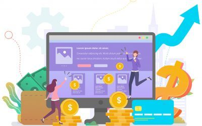 Click share ads revenue illustrated on website