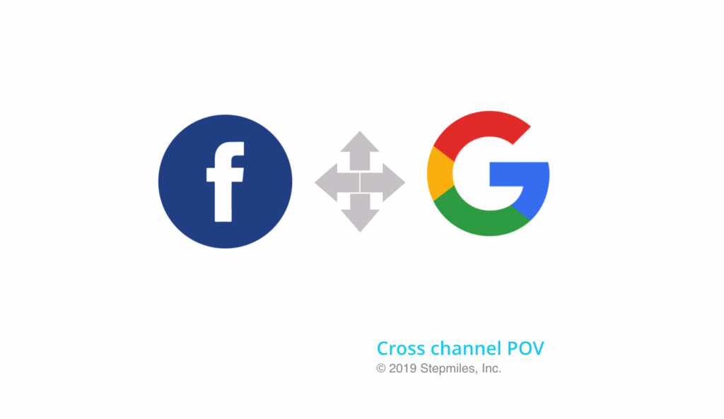 Google plus Facebook logos