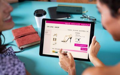 Two women changing behavior while shopping for fashion online