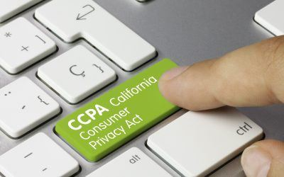 CCPA button on a keyboard